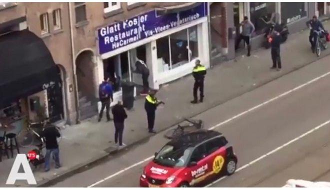 Άμστερνταμ: Ανδρας με παλαιστινιακή σημαία επιτίθεται σε ισραηλινό εστιατόριο