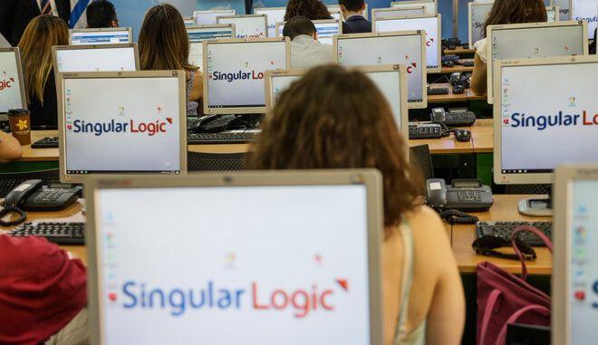Ενημέρωση των πολιτικών κομμάτων και των διαπιστευμένων δημοσιογράφων από τη SingularLogic για εκλογική διαδικασία (Φωτογραφία Αρχείου).