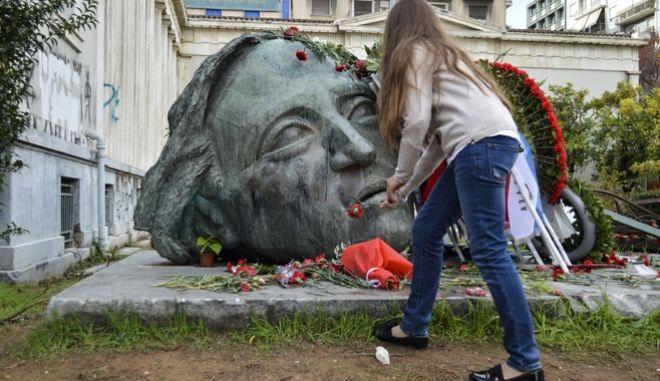 Εορτασμός της 44ης επέτειος από την εξέγερση του Πολυτεχνείου. Παρασκευή 17 Νοέμβρη 2017.  (EUROKINISSI / Λυδία Σιώρη)