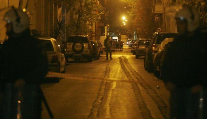 Στιγμιότυπο απο την οδό Ζαίμη στην περιοχή των Εξαρχείων όπου άνδρες της αστυνομίας έχουν αποκλείσει τον δρόμο,σήμερα 05 Ιανουαρίου 2009          ( EUROKINISSI / ΧΑΣΙΑΛΗΣ ΒΑΪΟΣ )