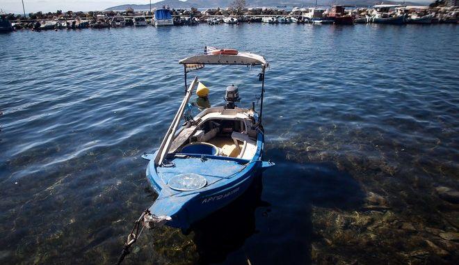 Στιγμιότυπο από το μικρό λιμάνι στην Αγριά Μαγνησίας
