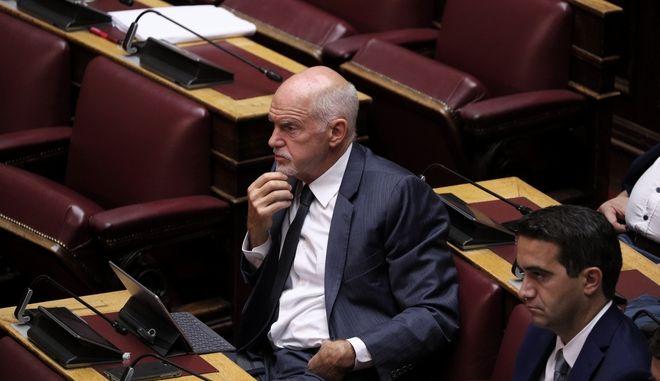 Ο Γιώργος Παπανδρέου στη Βουλή