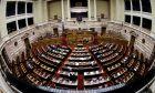 Στιγμιότυπο από τη συζήτηση της συμφωνίας των Πρεσπών στην ολομέλεια της Βουλής