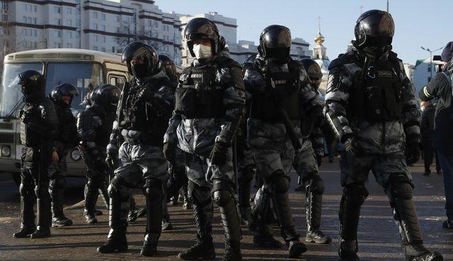 Αστυνομικές δυνάμεις στη Μόσχα