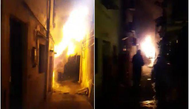 Φωτιά στα καντούνια της παλιάς πόλης της Κέρκυρας παραλίγο να προκαλέσει καταστροφή