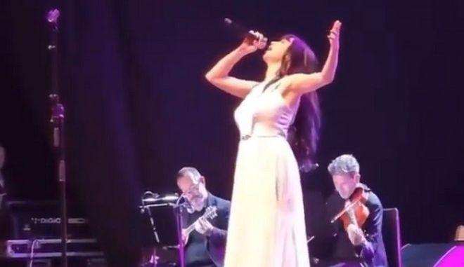 Η Πάολα σε συναυλία στο Ισραήλ