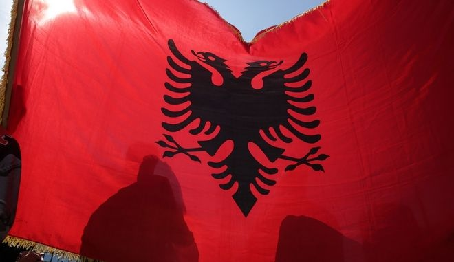 Albanian nationalists organise rally in solidarity to Albanian-speaking minority of FYROM. In the past weeks there has been a lot of unrest related to the government of the country. In Brussels, May 10 2017/            , 10  2017