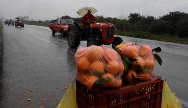 Αγρότης σε επαρχική οδό
