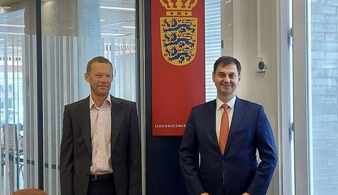 Erik Brøgger Rasmussen και Χάρης Θεοχάρης