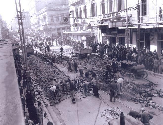 Αφαίρεση γραμμών του τραμ στην Πατησίων, Νοέμβριος 1953