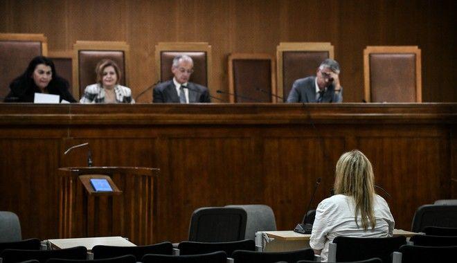 Δίκη Χρυσής Αυγής στην δικαστική αίθουσα των φυλακών Κορυδαλλού.
