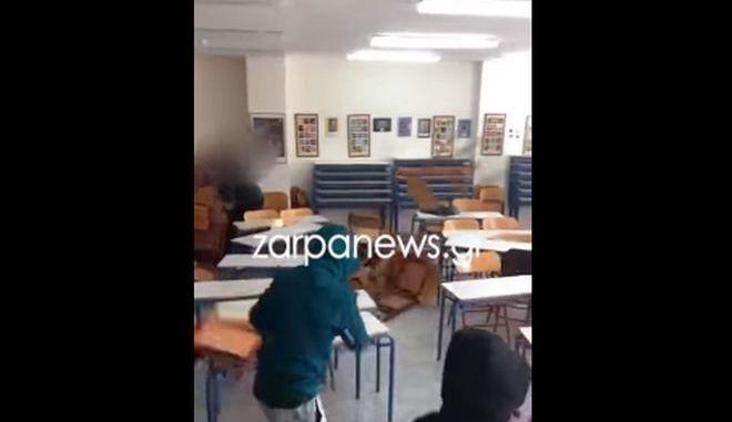 Απίστευτοι βανδαλισμοί στα Χανιά: Μαθητές τα έσπασαν σε σχολική τάξη