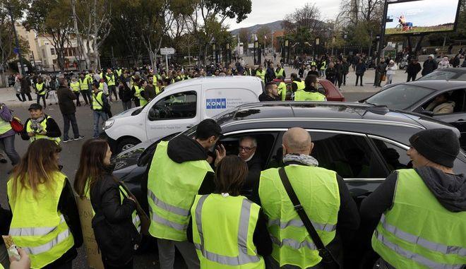 """Κινητοποίηση των """"κίτρινων γιλέκων"""" στη Μασσαλία"""