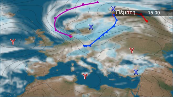 Χάρτης βροχής Ευρώπη