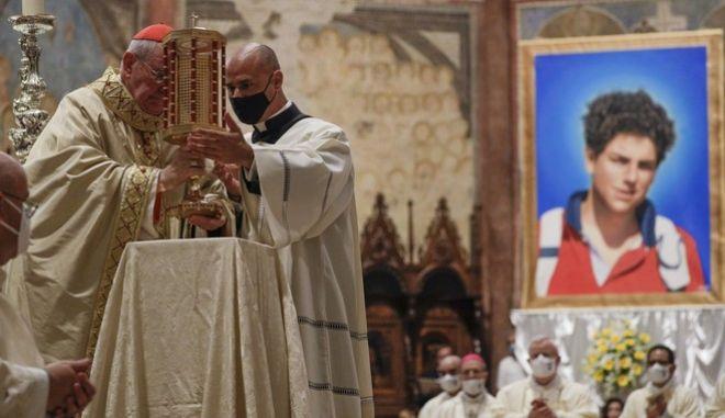 Η τελετή οσιοποίησης του Carlo Acutis στη Βασιλική του Αγίου Φραγκίσκου