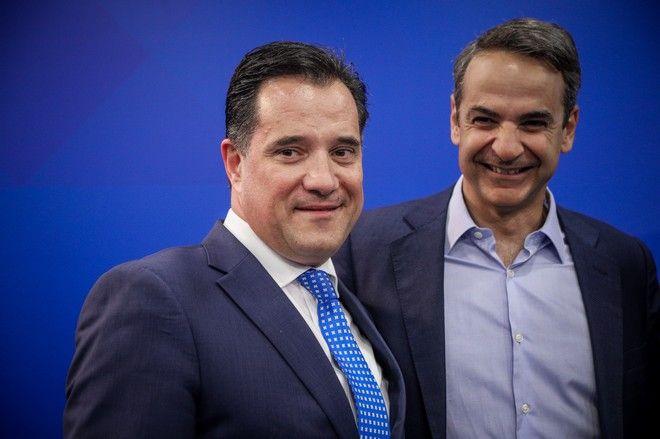 Ο Κυριάκος Μητσοτάκης και ο Άδωνις Γεωργιάδης