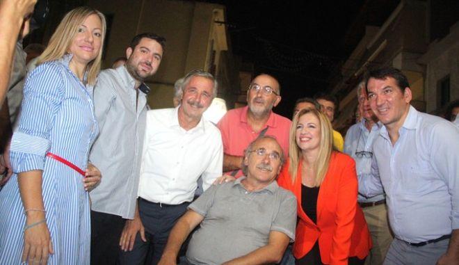 Στιγμιότυπο από την προεκλογική ομιλία της προέδρου του ΠΑΣΟΚ Φώφης Γεννηματά στο Άργος,Κυριακή 6 Σεπτεμβρίου 2015(EUROKINISSI/ΒΑΣΙΛΗΣ ΠΑΠΑΔΟΠΟΥΛΟΣ)
