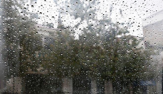 Rainfall in Alexandroupoli, Greece on Oct. 25, 2017 /     25 , 2017.
