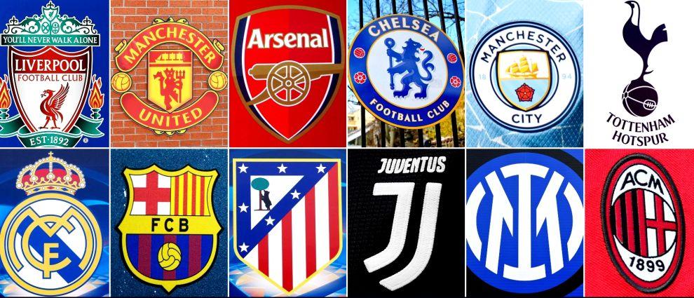 Τα δώδεκα ιδρυτικά μέλη της Ευρωπαϊκής Σούπερ Λίγκας.