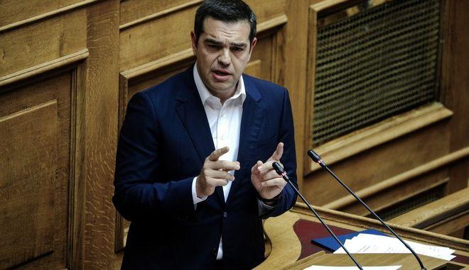 O πρόεδρος του ΣΥΡΙΖΑ, Αλ. Τσίπρας