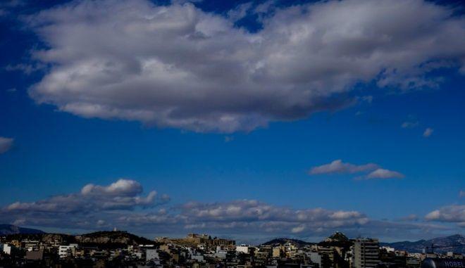 Σύννεφα πάνω από την Αττική - Φωτογραφία αρχείου