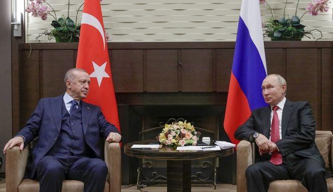 Ο Βλαντίμιρ Πούτιν και ο Ταγίπ Ερντογάν