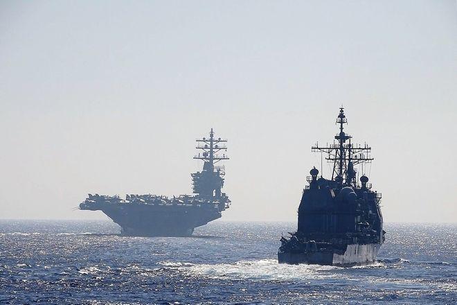 Συνεκπαίδευση αμερικανικού αεροπλανοφόρου με μονάδες και μέσα του Πολεμικού Ναυτικού και της Πολεμικής Αεροπορίας