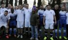 Ο Κυριάκος Μητσοτάκης τον Δεκέμβριο του 2016 σε φιλανθρωπικό αγώνα με την Εθνική Ομάδα Αστέγων