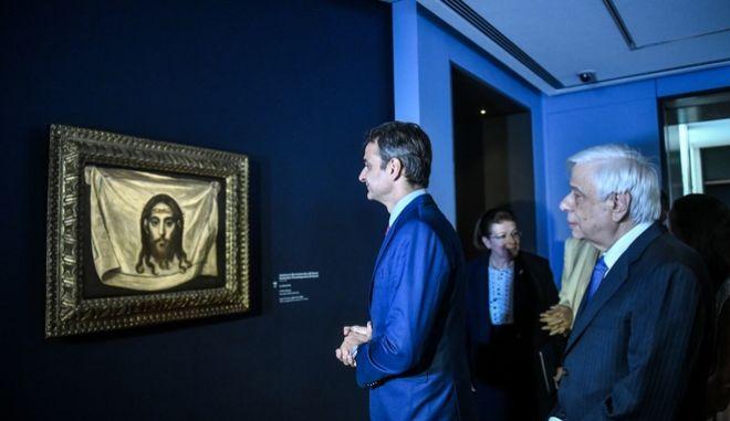 Από τα εγκαίνια του νέου μουσείου Σύγχρονης Τέχνης του Ιδρύματος Βασίλη και Ελίζας Γουλανδρή, παρουσία του Προέδρου της Δημοκρατίας Προκόπη Παυλόπουλου και του Πρωθυπουργού Κυριάκου Μητσοτάκη.