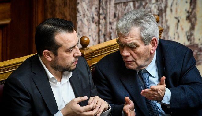 Ο Νίκος Παππάς και ο Δημήτρης Παπαγγελόπουλος