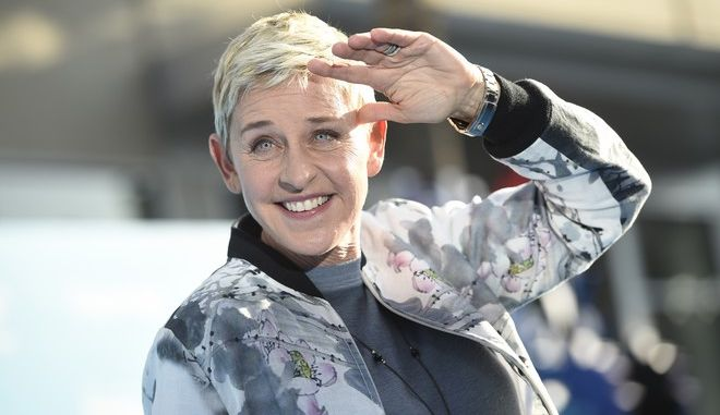 "Ellen DeGeneres arrives at the premiere of ""Finding Dory"" at the El Capitan Theatre on Wednesday, June 8, 2016, in Los Angeles. (Photo by Chris Pizzello/Invision/AP)"
