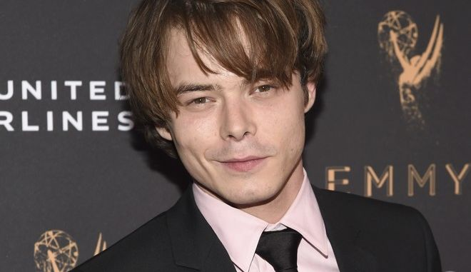 Charlie Heaton arrives at the 2017 Performers Nominee Reception Presented by the Television Academy at the Wallis Annenberg Center for the Performing Arts on Friday, Sept. 15, 2017, in Beverly Hills, Calif. (Photo by Phil Mccarten/Invision for the Television Academy/AP Images)