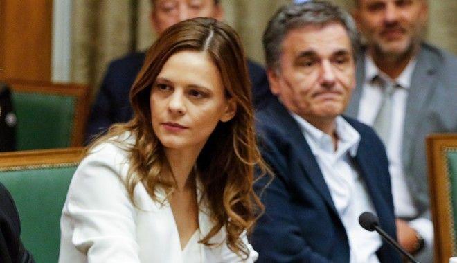 Στιγμιότυπο από  την συνεδρίαση του Υπουργικού Συμβουλίου