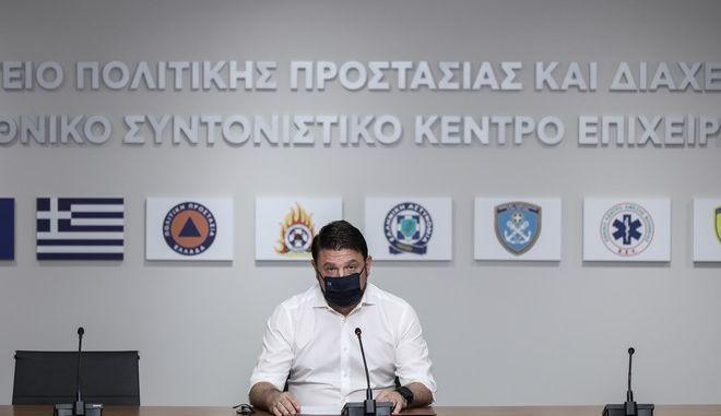 Ο Υφυπουργός Πολιτικής Προστασίας και Διαχείρισης Κρίσεων, Νίκος Χαρδαλιάς