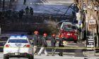 Εικόνα από το σημείο στο Νάσβιλ όπου σημειώθηκε έκρηξη τροχόσπιτου