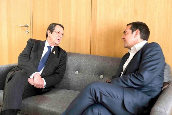 Ο πρωθυπουργός Αλέξης Τσίπρας και ο Πρόεδρος της Κυπριακής Δημοκρατίας Νίκος Αναστασιάδης