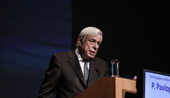 """Ο Πρόεδρος της Δημοκρατίας Προκόπης Παυλόπουλος στην έναρξη των εργασιών του 7ου Συνεδρίου """"Human Brain Project Summit"""""""