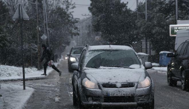 Χιονισμένοι δρόμοι
