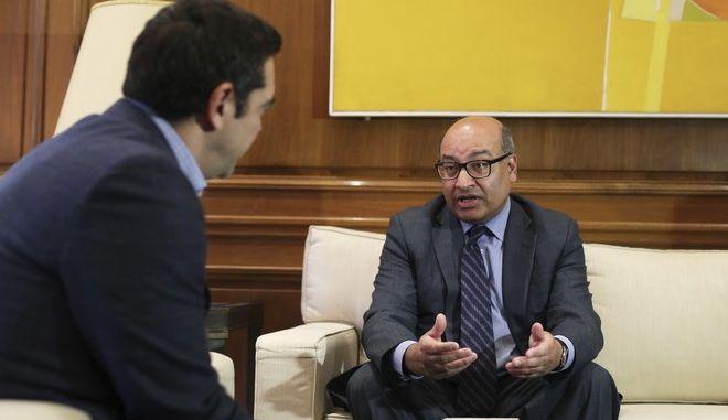 Φωτογραφία αρχείου από συνάντηση του προέδρου της EBRD με τον πρωθυπουργό, Αλέξη Τσίπρα