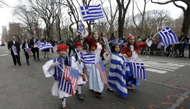 Από την καθιερωμένη παρέλαση στη Νέα Υόρκη.