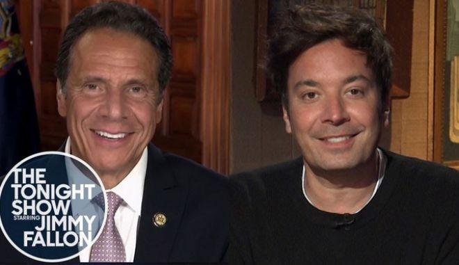 Τζίμι Φάλον: Επιστροφή στο στούντιο με πρώτο καλεσμένο τον κυβερνήτη της Ν. Υόρκης