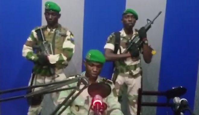 Πλάνο από την τηλεόραση της Γκαμπόν
