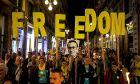 Καταλονία: Αποψη από συγκέντρωση