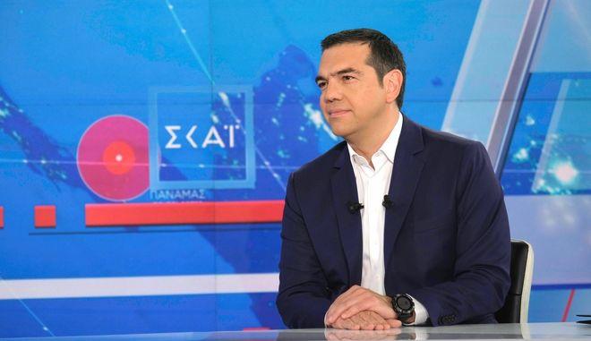 Συνέντευξη του Πρωθυπουργού, Αλέξη Τσίπρα στον Τηλεοπτικό σταθμό Σκαϊ, Τρίτη 2 Ιουλίου 2019