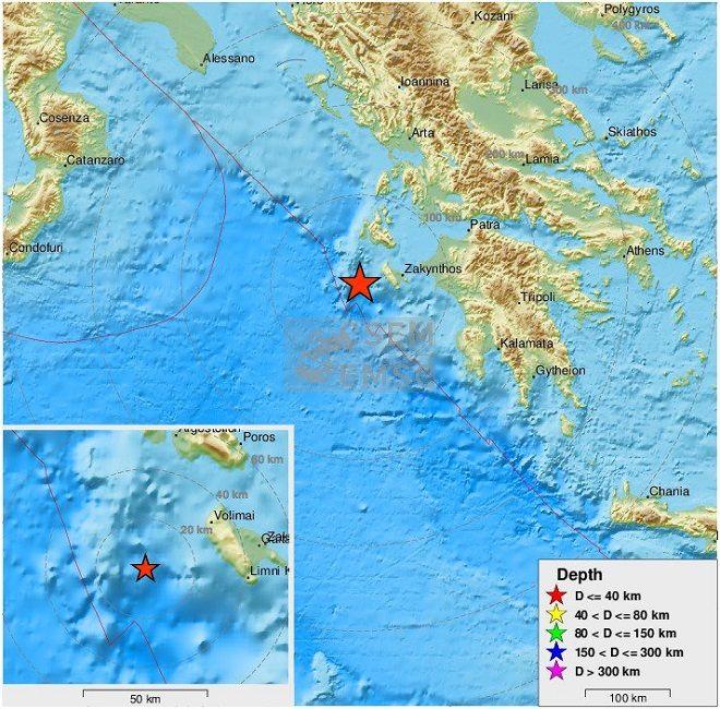 Σεισμός: Δύο δονήσεις στο Ιόνιο με διαφορά λίγων λεπτών