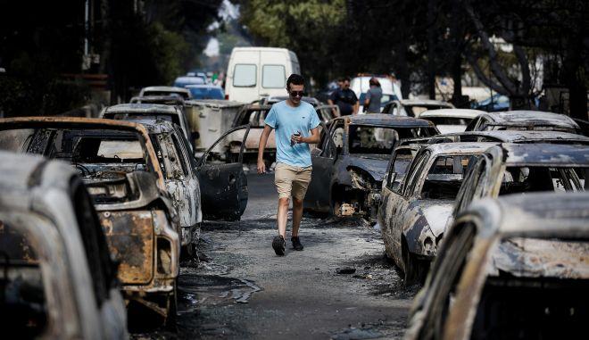 Φωτογραφία από το Μάτι - Εικόνες ολικής καταστροφής