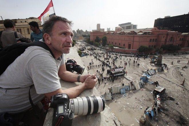 Ο Γιάννης Μπεχράκης στο Κάιρο το 2011