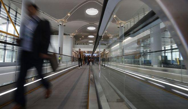 Στιγμιότυπο από το νέο αεροδρόμιο της Κωνσταντινούπολης