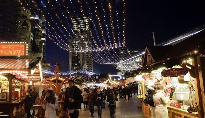 Η χριστουγεννιάτικη αγορά του Βερολίνου όπου τον Δεκέμβριο του 2016 σημειώθηκε πολύνεκρη τρομοκρατική επίθεση