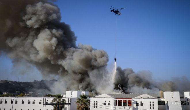 Πυρκαγιά στα κτίρια του Πανεπιστημίου Κρήτης